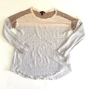 J. Crew Long Sleeve Tissue Tee Striped M